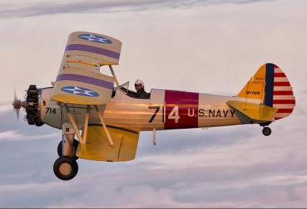 Boeing Starman historyczny dwupłat nad Nowym Targiem